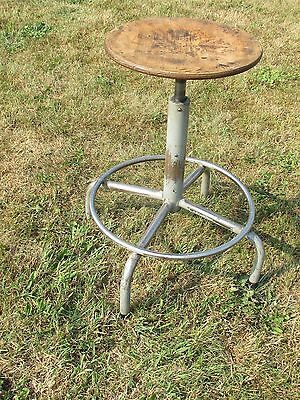 Vintage Authentic Industrial Chair stool Adjustable swivel Loft Modernism