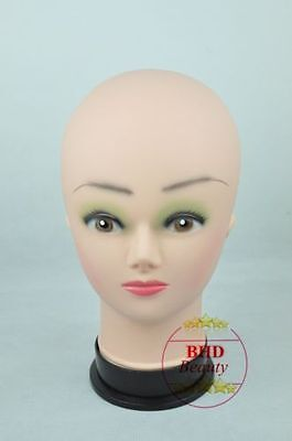 """11"""" PVC Mannequin Manikin Head Bust for Wig Hat Necklace Jewelry Display DGT# UK"""