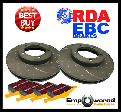 DIMPLED SLOTTED Ford Falcon BF XR6 Turbo XR8 FRONT DISC BRAKE ROTORS + EBC PADS
