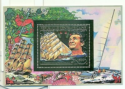NAVIGATEURS CELEBRES - MARINERS CENTRAL AFRICAN REPUBLIC 1981 golden block