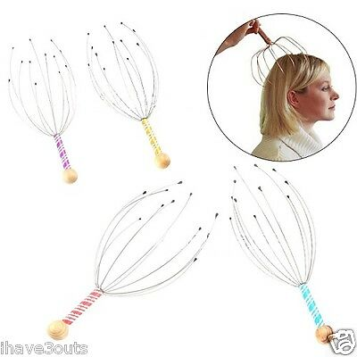 Stylish Head Scalp Neck Stress Relaxing Massager Blood Circulation Therapy Tool