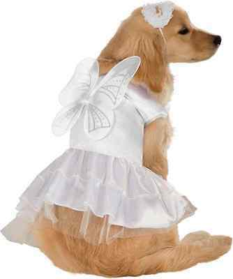 Angel White Christmas Guardian Fancy Dress Up Halloween Pet Dog Cat Costume