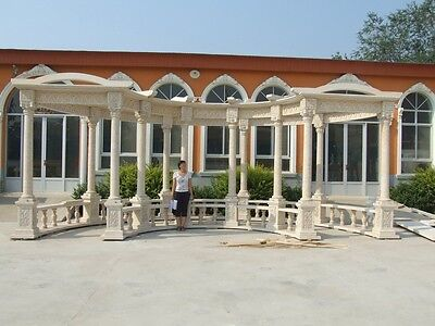 Beautiful Hand Carved Large Arbor Marble Trellis Tr1