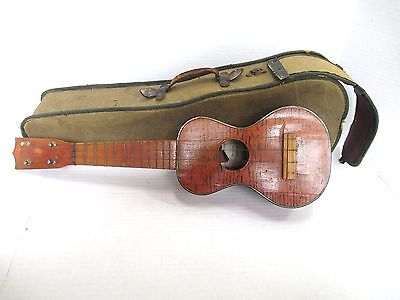 Vintage Unusual & Early Hualalia Ukelele in Orig Suicide Instrument Case