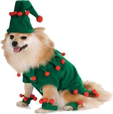 Elf Santa's Helper Green Red Cute Dress Up Christmas Holiday Pet Dog Cat Costume