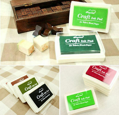 Pretty Oil Based DIY Craft Ink Pad Rubber Stamps for Fabric Wood Paper Wedding