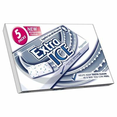 Wrigley's Extra Ice Sugarfree Gum with Micro Granules Peppermint 10 per pack x 5