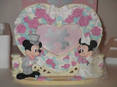 Disney Store Mickey And Minnie Wedding Heart Frame **NEW**