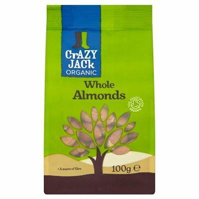 Crazy Jack Organic Whole Almonds (100g)