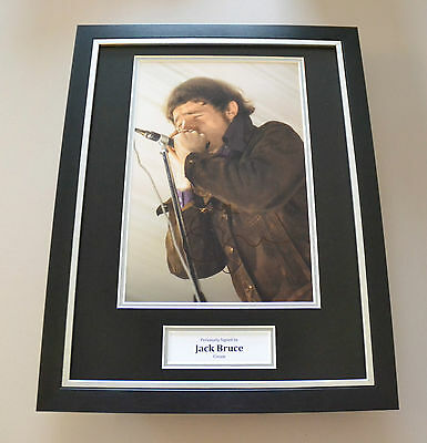 Jack Bruce Signed Framed 16x12 Photo Autograph Display Cream Memorabilia + COA