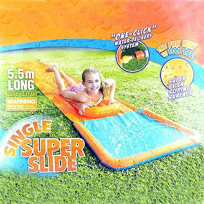 Kids Aqua Water Super Slide Sprinkler Splash Pool Toy & Boogie Board Inflatable