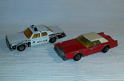2x alte Spielzeugautos/Vintage toy cars MATCHBOX: Plymouth / Lincoln Cont.