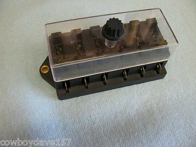 Fuse Block With cover accepts 6 ATO/ATC fuses 6 gang