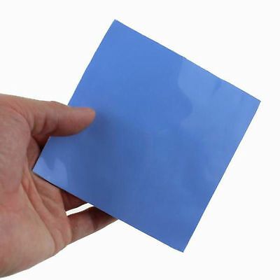 100x100mm x 0.5mm GPU CPU Heatsink Cooling Thermal Silicon Conductive Pad (Blue)