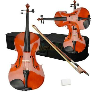 "New  Student Adults 16"" Acoustic Viola + Case + Bow + Rosin Wood Color"