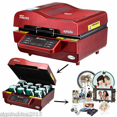110V / 220V FREESUB 3D Sublimation Heat Press Machine for Phone Cases Mugs Cups