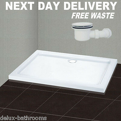 1700x800mm Rectangle Stone Shower Tray In Bath For Shower Enclosure Free Waste