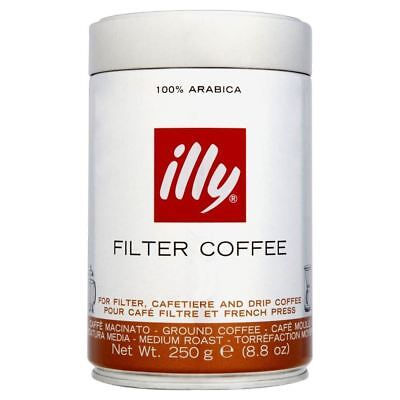 Illy Ground Coffee for Long Espresso (250g)