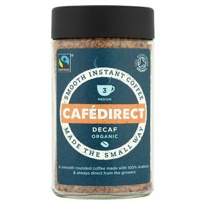 Cafédirect Fairtrade Organic Decaffeinated Instant Coffee (100g)