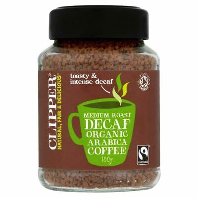 Clipper Fairtrade Organic Decaffeinated Freeze Dried Arabica Coffee (100g)