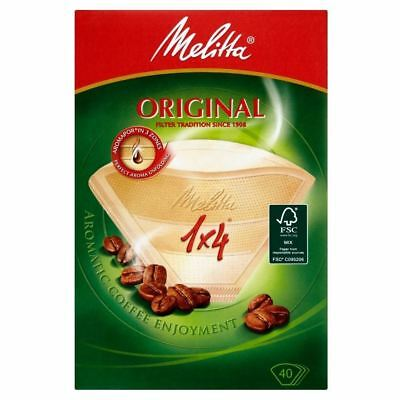 Melitta Classic Four Cup Coffee Filter Papers (40)