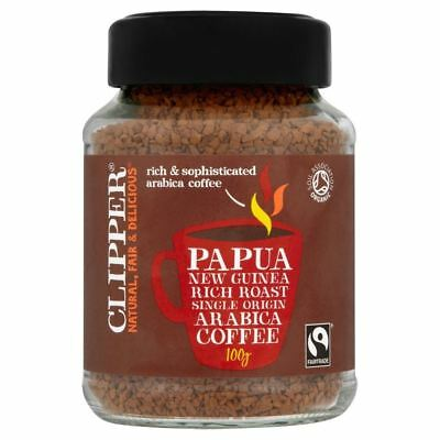 Clipper Papua New Guinea Fairtrade Organic Instant Coffee (100g)