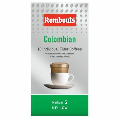 Rombouts Colombian Individual Filter Coffee Mellow Fairtrade (10)