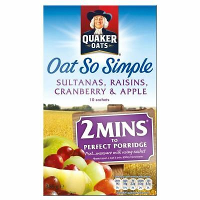 Quaker Oat So Simple Apple, Sultana, Raisin & Cranberry (10 per pack - 385g)