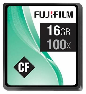FujiFilm Fuji 16GB Compact Flash CF 100x Memory Card for DSLR/Digital Camera