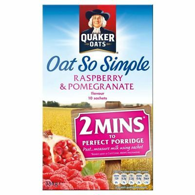 Quaker Oats Oat So Simple Raspberry & Pomegranate Flavour (10 per pack - 334g)