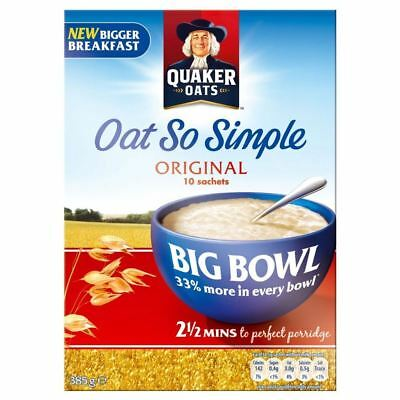 Quaker Oat So Simple Big Bowl Original (10 per pack - 385g)