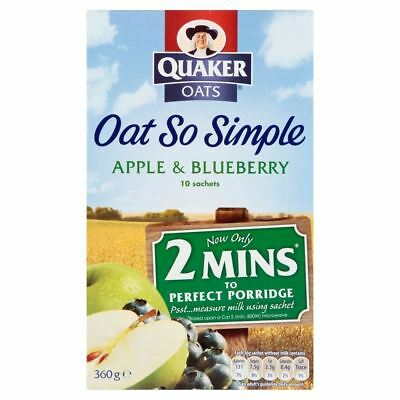 Quaker Oat So Simple Apple & Blueberry (10 per pack - 360g)
