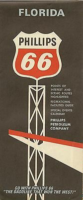 1967 PHILLIPS Road Map FLORIDA Fort Lauderdale Pier 66 Everglades Parkway Tampa