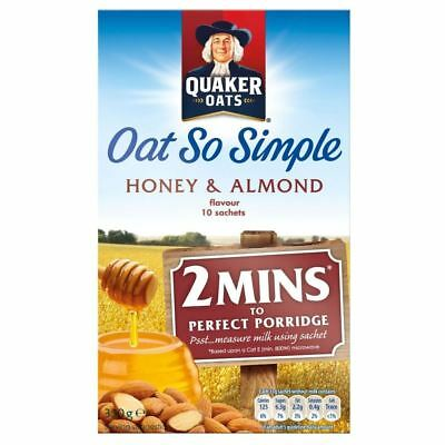 Quaker Oat So Simple Honey & Almond (10 per pack - 330g)