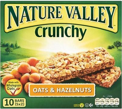 Nature Valley Crunchy Granola Bars - Oats & Hazelnut (5x42g)