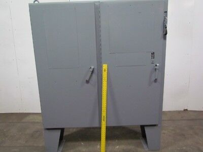 Type 12 Electrical Enclosure/Box 2 Door 60Tx61Wx12D w/Floor Stand 60A Disconnect