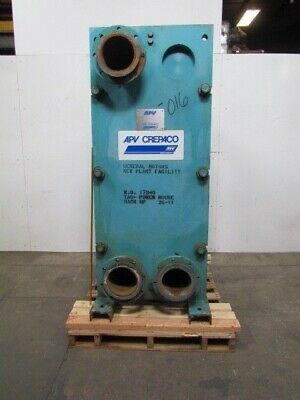 "AVP Crepaco SR95-A Industrial Thermal 48 Plate Heat Exchanger 8"" Flanged Ports"