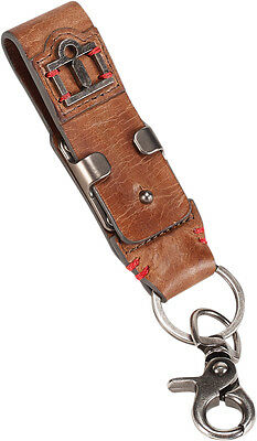 ICON 1000 Leather Belt Loop Keychain Motorcycle Key FOB (Brown)
