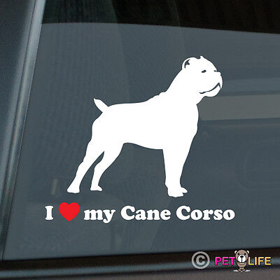 I Love My Cane Corso Sticker Die Cut Vinyl