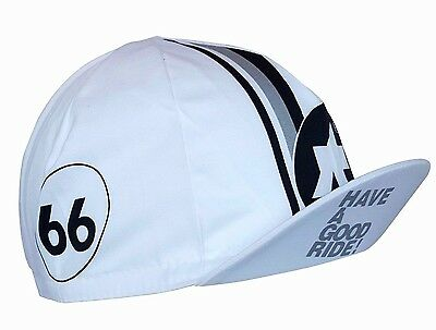 Cycling Cap Summer ASSOS White Made In Italy 100% Cotton