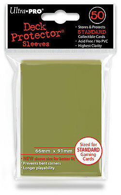 50 ct Metallic Gold Sports MTG Pokemon Card Deck Protector Sleeves Ultra Pro