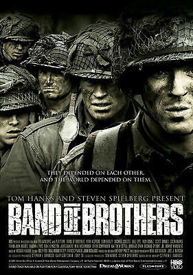 """/""""Band of Brothers/"""" 2001 Movie Poster Print A0-A1-A2-A3-A4-A5-A6-MAXI 996"""