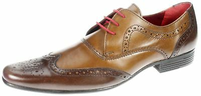 207e29c4c3 Red Tape Elrick brown tan two tone leather lace up formal brogue mens shoes