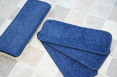 14 Blue Glitter Open Plan Carpet Stair Treads Blue Sparkle Pads! 14 Large Pads
