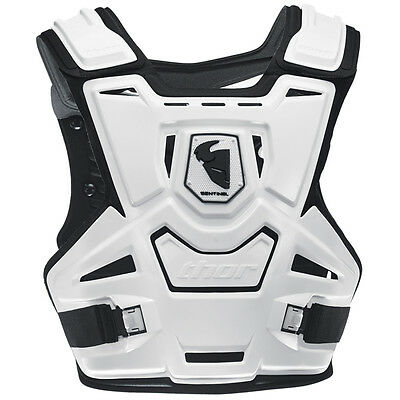 THOR MX Motocross Sentinel Chest/Roost Protector (White) Adult/Kids Sizes