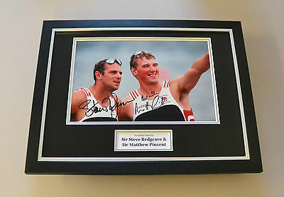 Steve Redgrave & Matthew Pinsent Signed Framed 16x12 Photo Autograph Display COA