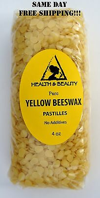 YELLOW BEESWAX BEES WAX by H&B Oils Center ORGANIC PASTILLES BEADS PURE 4 OZ