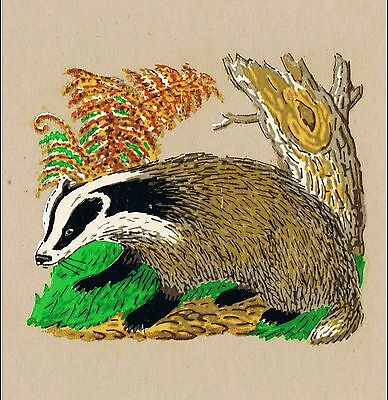 10 BADGER COUNTRYSIDE CRAFTS ENAMEL INK JEWELLERY DECORATION TRANSFER DECALS Sm