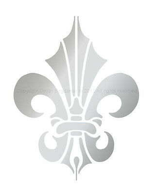 Designer Wall Decorative FLEUR DE LIS STENCIL CHIC DAMASK DECOR 3005 Many Sizes