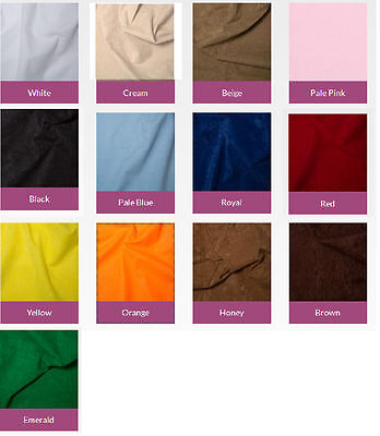 "Plain Suedette Fabric - Faux Suede - CRAFT Suedette - 100% Polyester - 62"" Width"